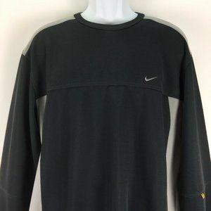 Nike Large Gray Knit Shirt Mens Pullover